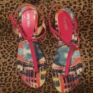Nine West Hot Pink Sandals size 9.5